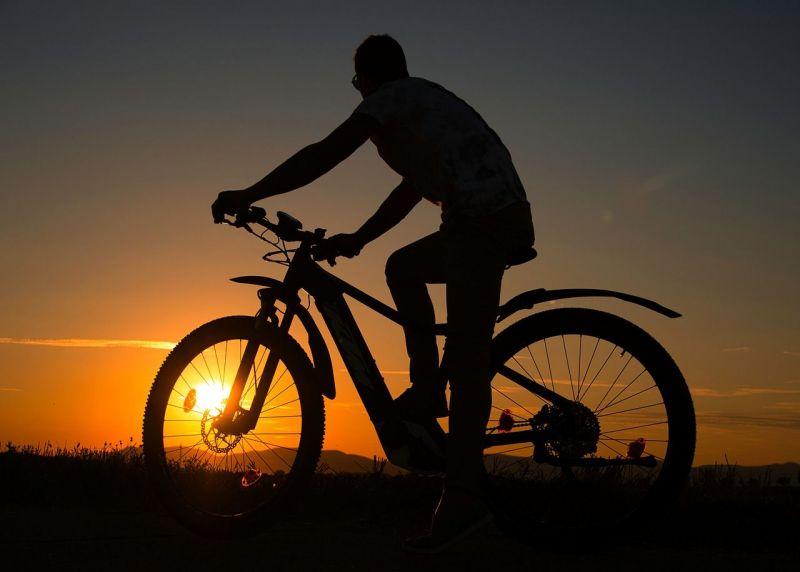 E-Bike Sonnenuntergang